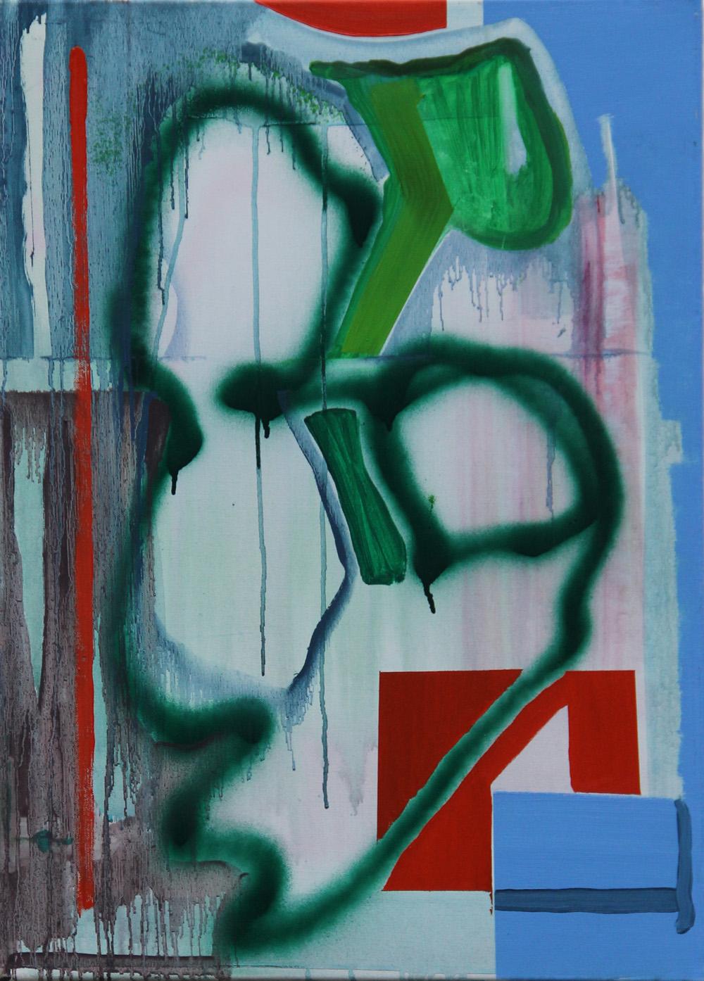 2017-B 50x70 cm, acryl op doek