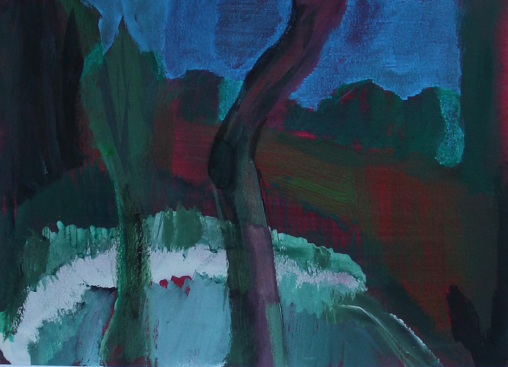 P 2015-P 27x19 cm, acryl op papier