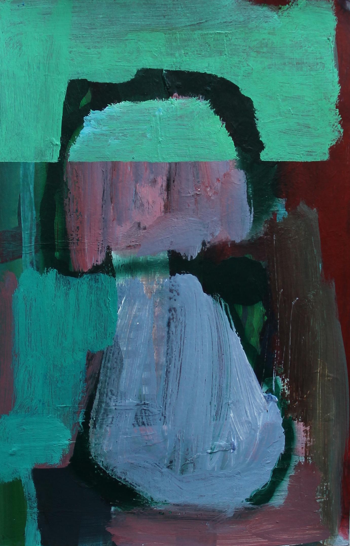 P 2016-B 18,5x30 cm, acryl en spuitbus op papier