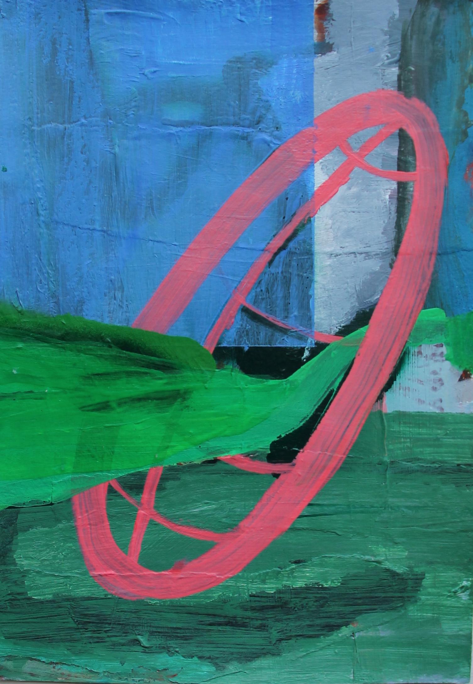 P 2016-H 20,5x29,5 cm, acryl op papier