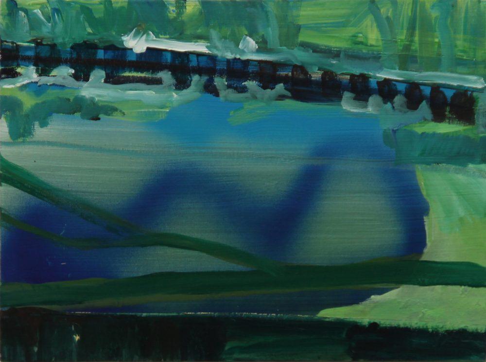 2017-R 40x30 cm, acryl en spuitbus op canvas