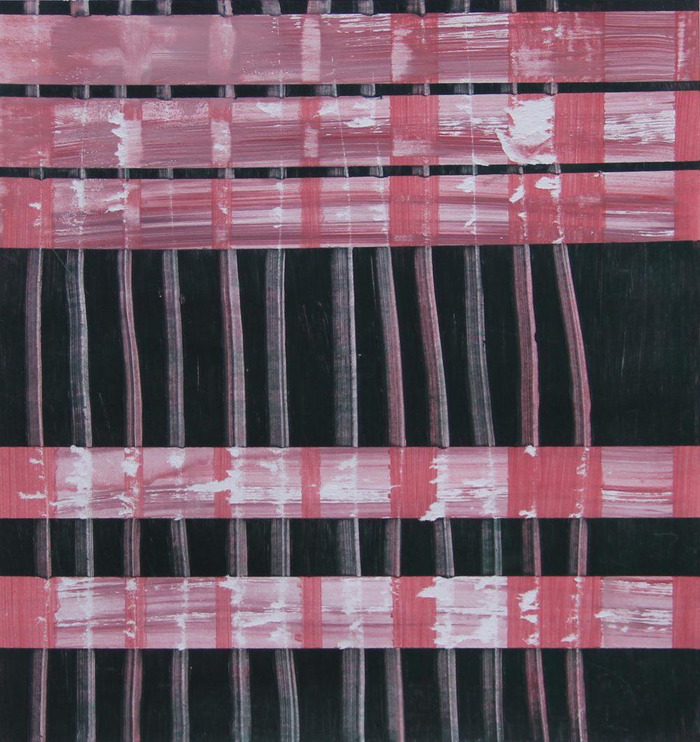 P 2017-N 25x26 cm, acryl op papier