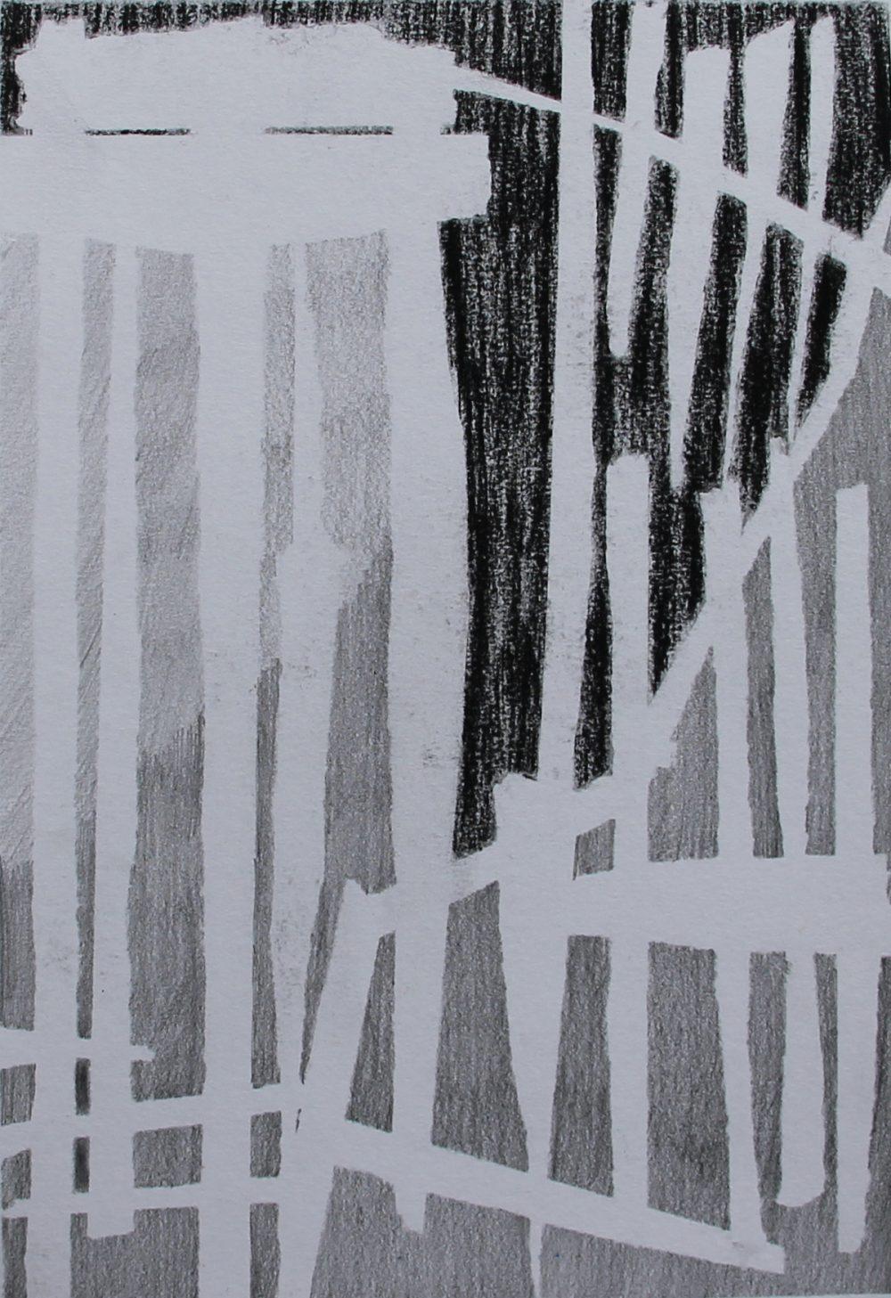 P 2017-P 18x25,5 cm, potlood en krijt op papier