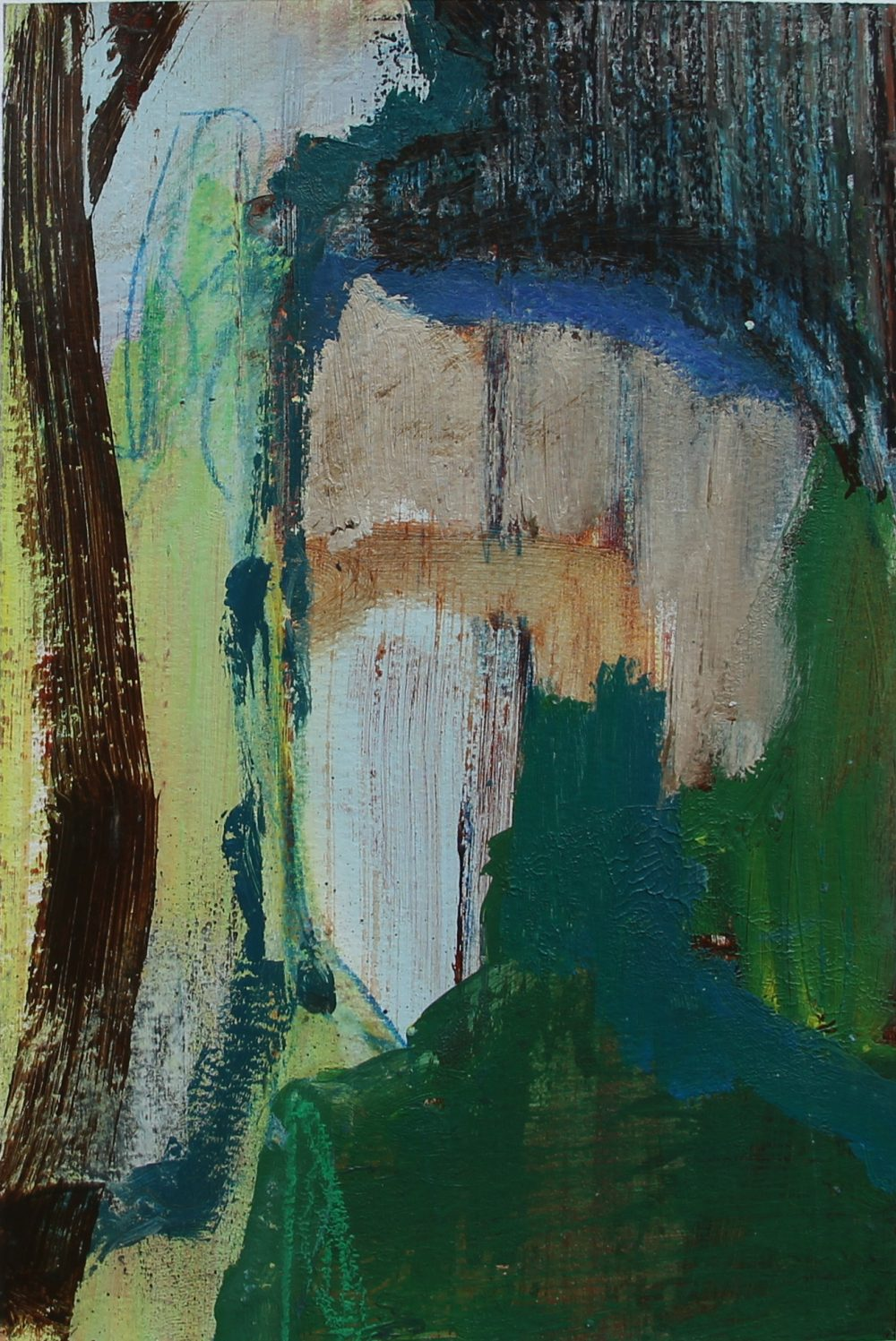 P 2017-Q 17x26 cm, acryl en krijt op papier