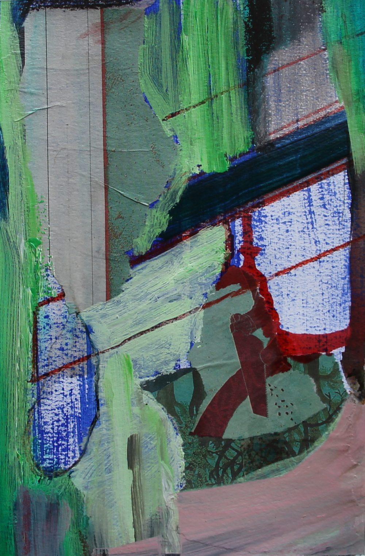 P 2017-U 16,5x 25,5 cm, acryl,krijt en papier op papier