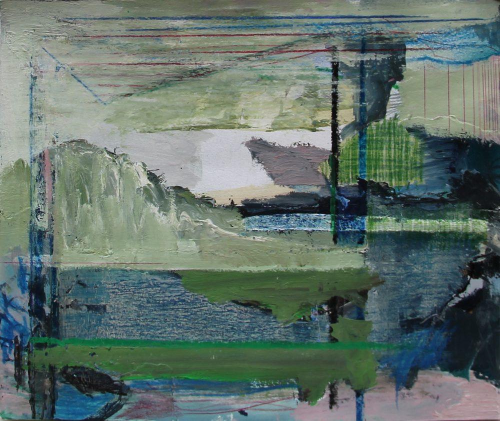 P 2018-C 36,5x30 cm, acryl en potlood op papier