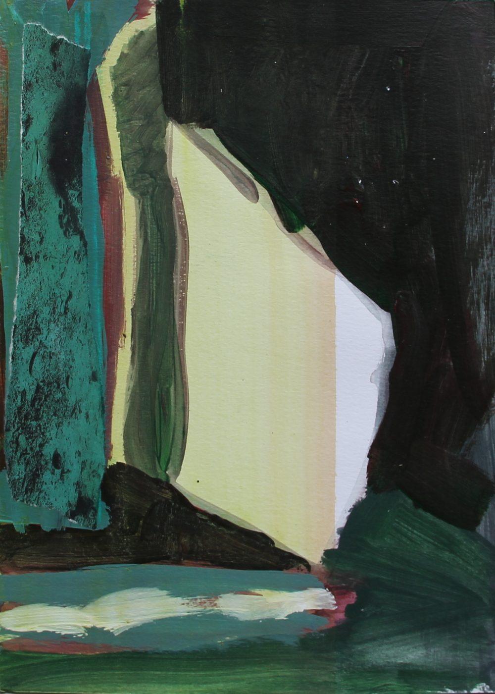 NIET TE KOOP.  P 2018-M  21x30 cm, acryl en papier op papier