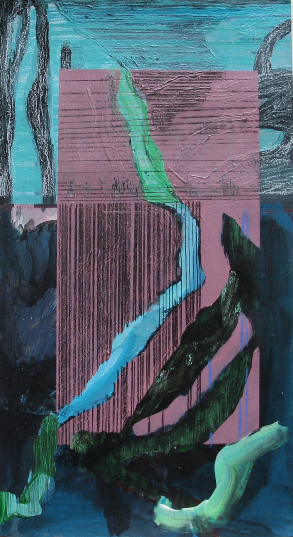 P 2017-C 23x42 cm, acryl op papier