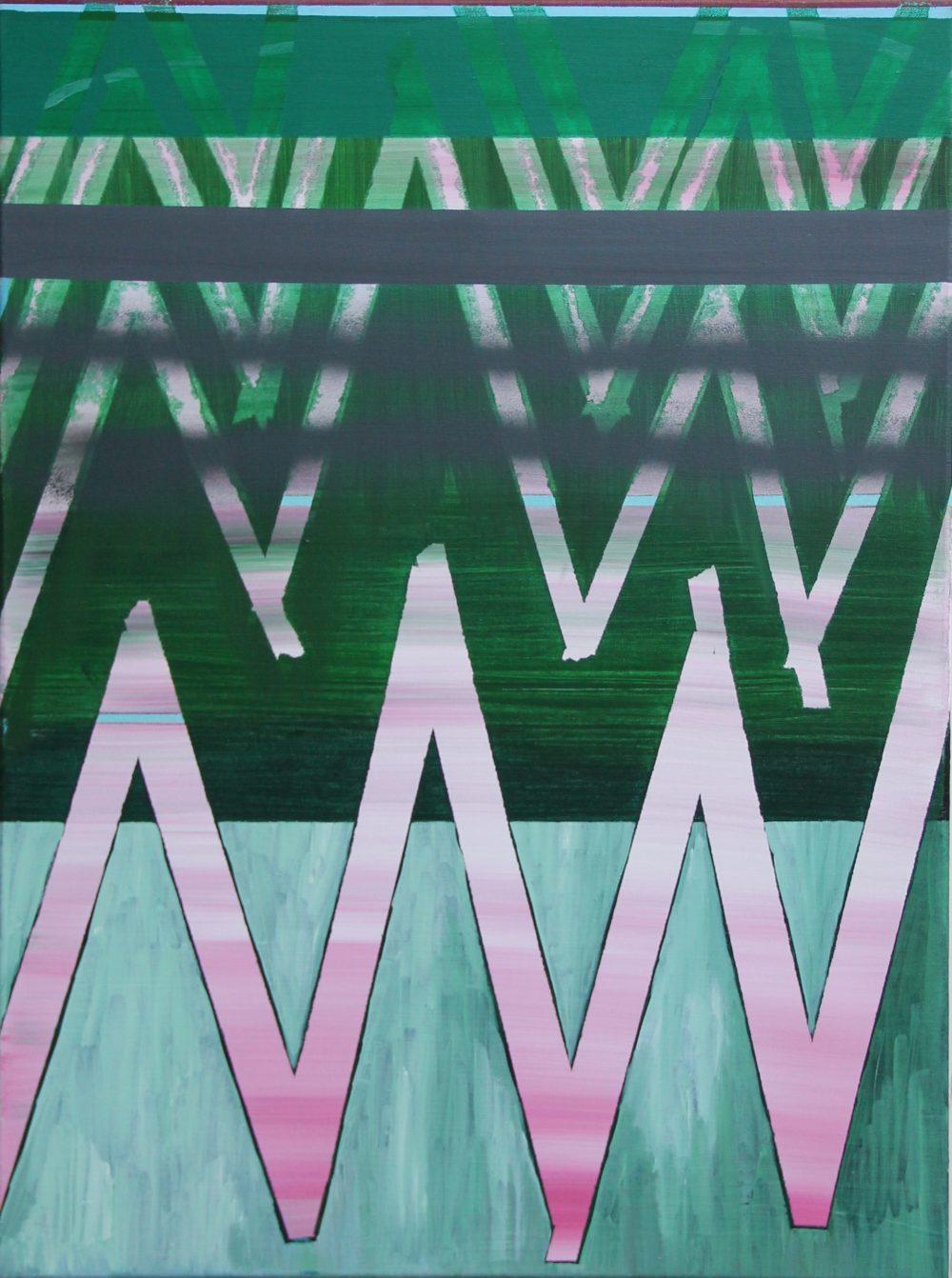 2019-A 60x80 cm, acryl en spuitbus op doek