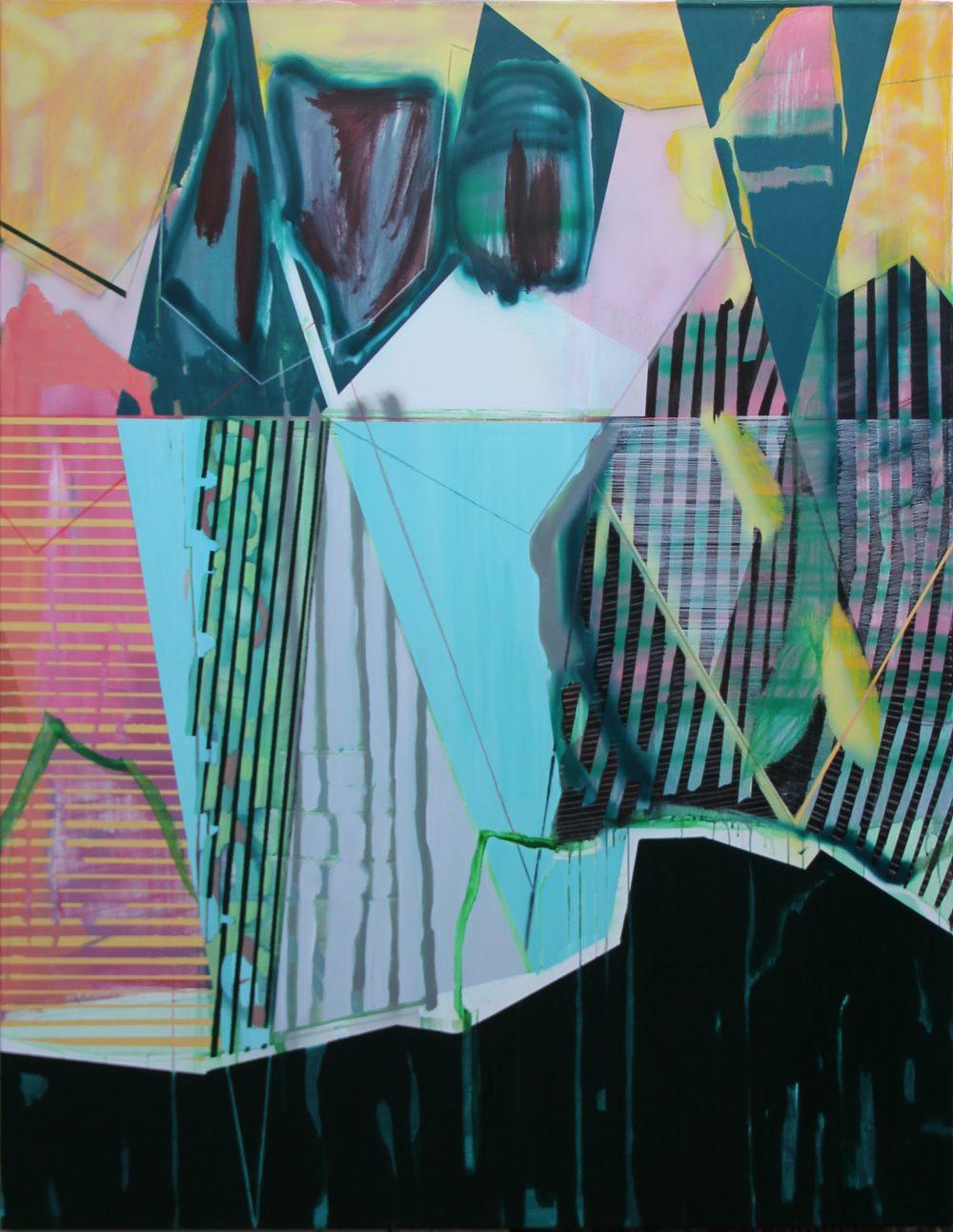 GW 2019-C 140x180 cm, acryl, spuitbus en potlood op doek