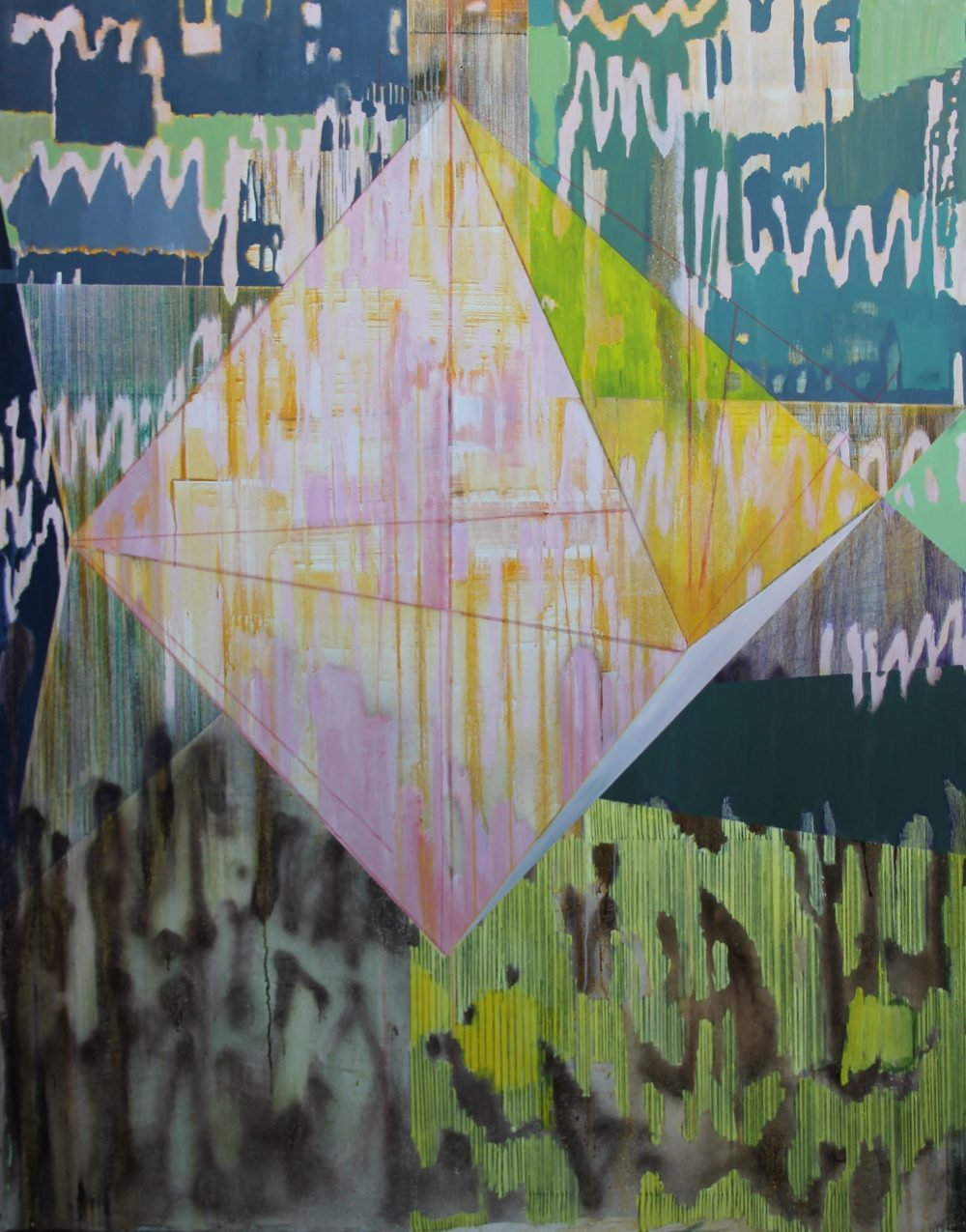 GW 2019-D 140x180 cm, acryl, spuitbus en potlood op doek