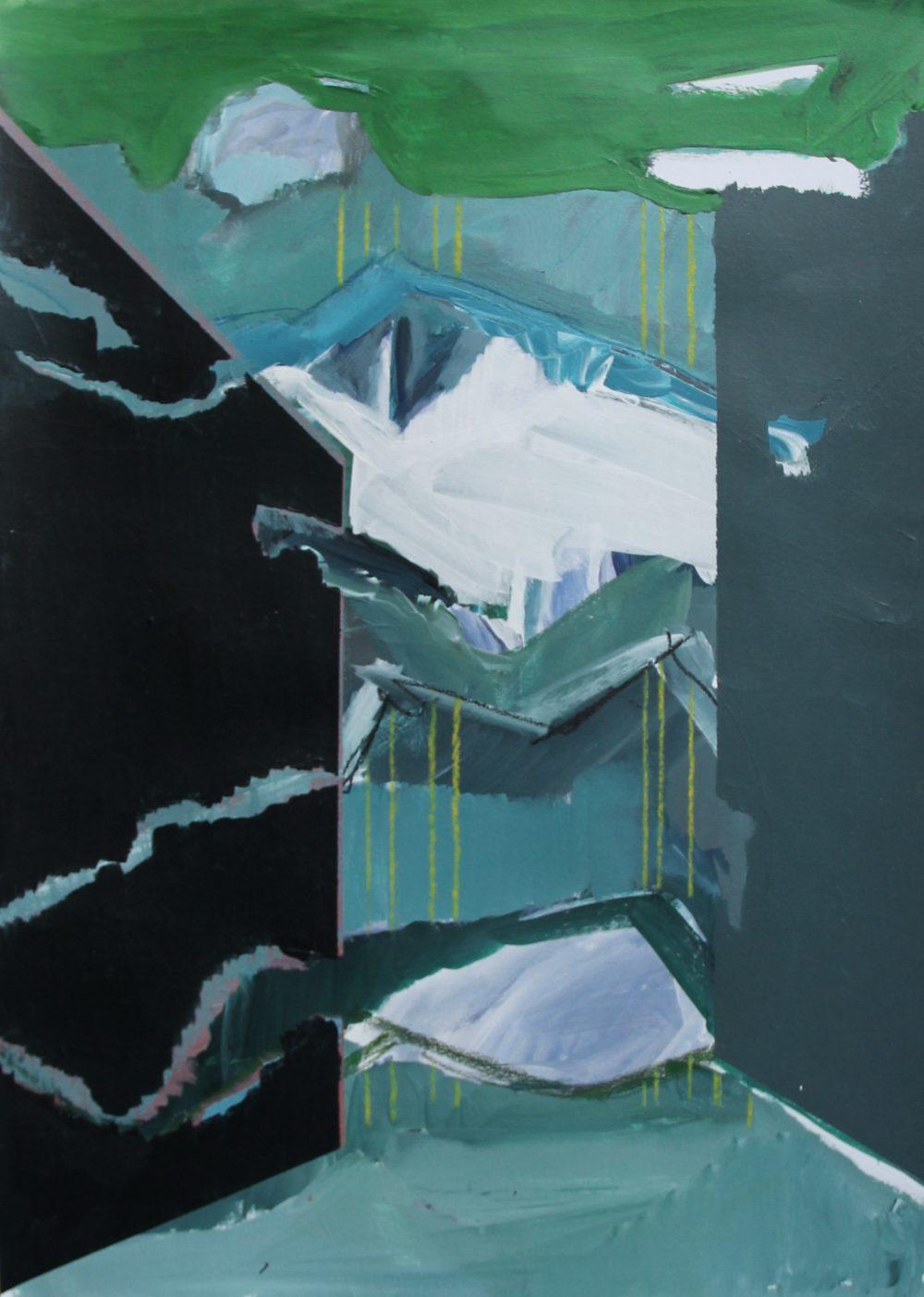 P 2019-B 42x59 cm, acryl en krijt op papier