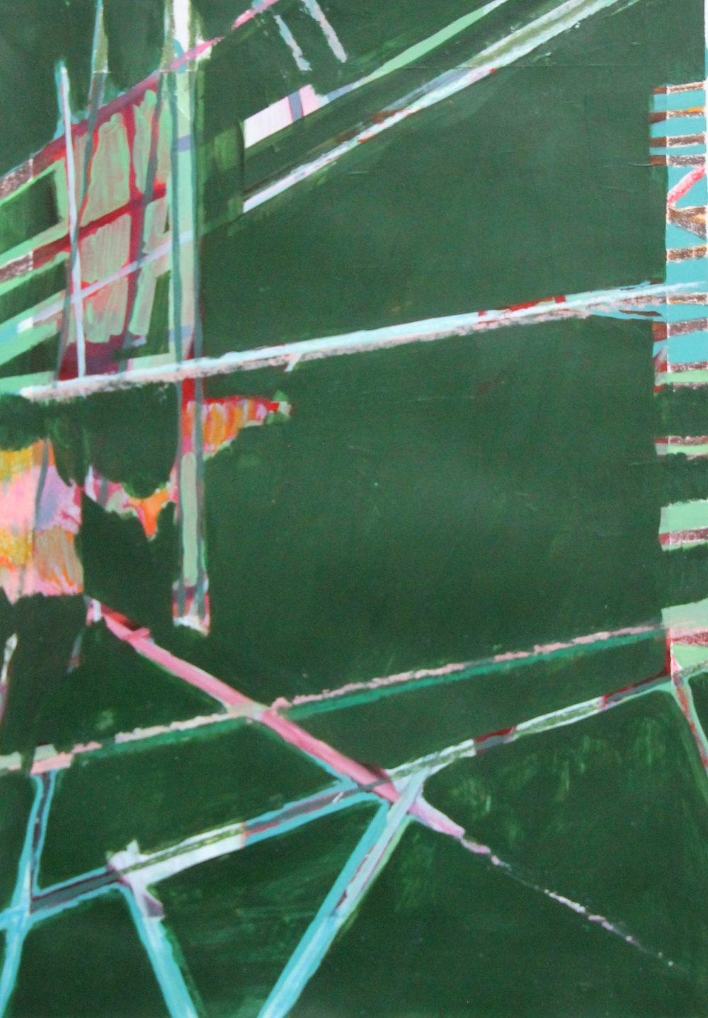 P 2019-C 39x56 cm, acryl en krijt op papier