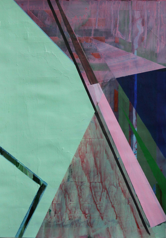 P 2019-D 42x59 cm, acryl en potlood op papier