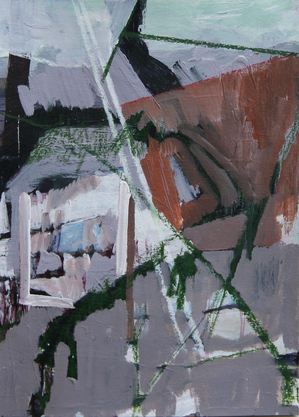 P 2020-G 21x30 cm, acryl en potlood op papier