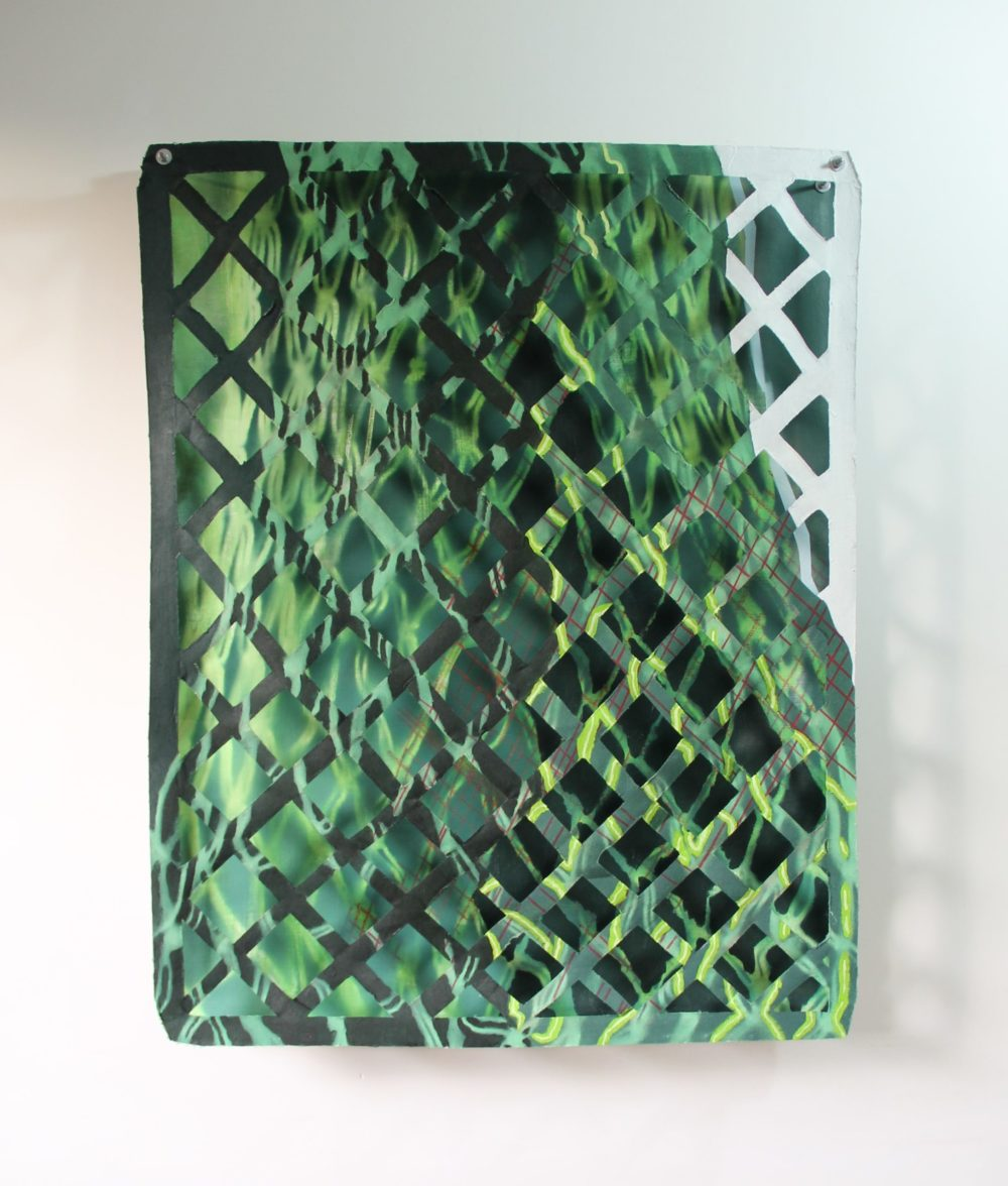 S 2020-C, 82x103 cm, spuitbus, acryl en potlood op dubbel doek