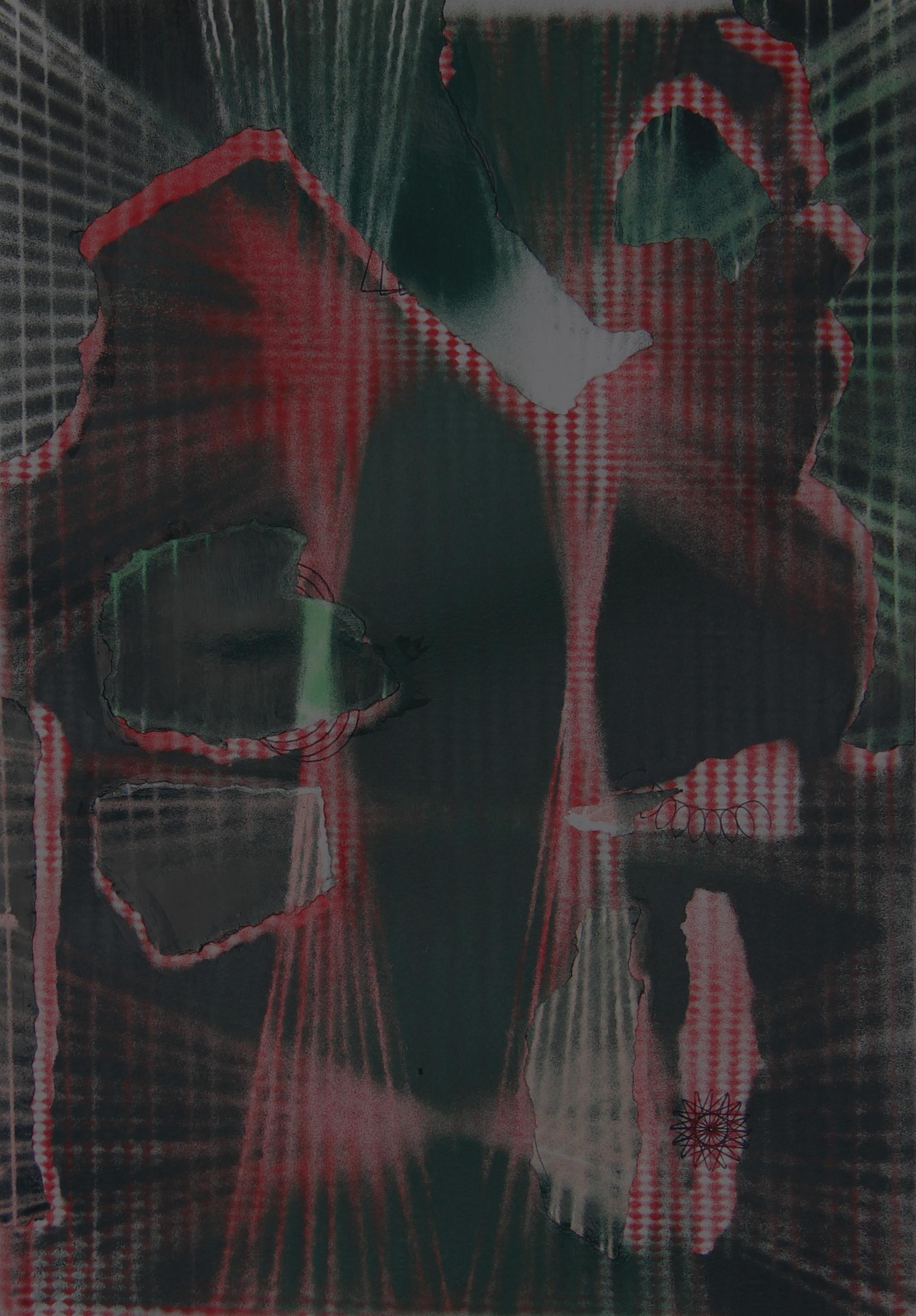 P 2020-N, 42x29 cm, spuitbus op papier