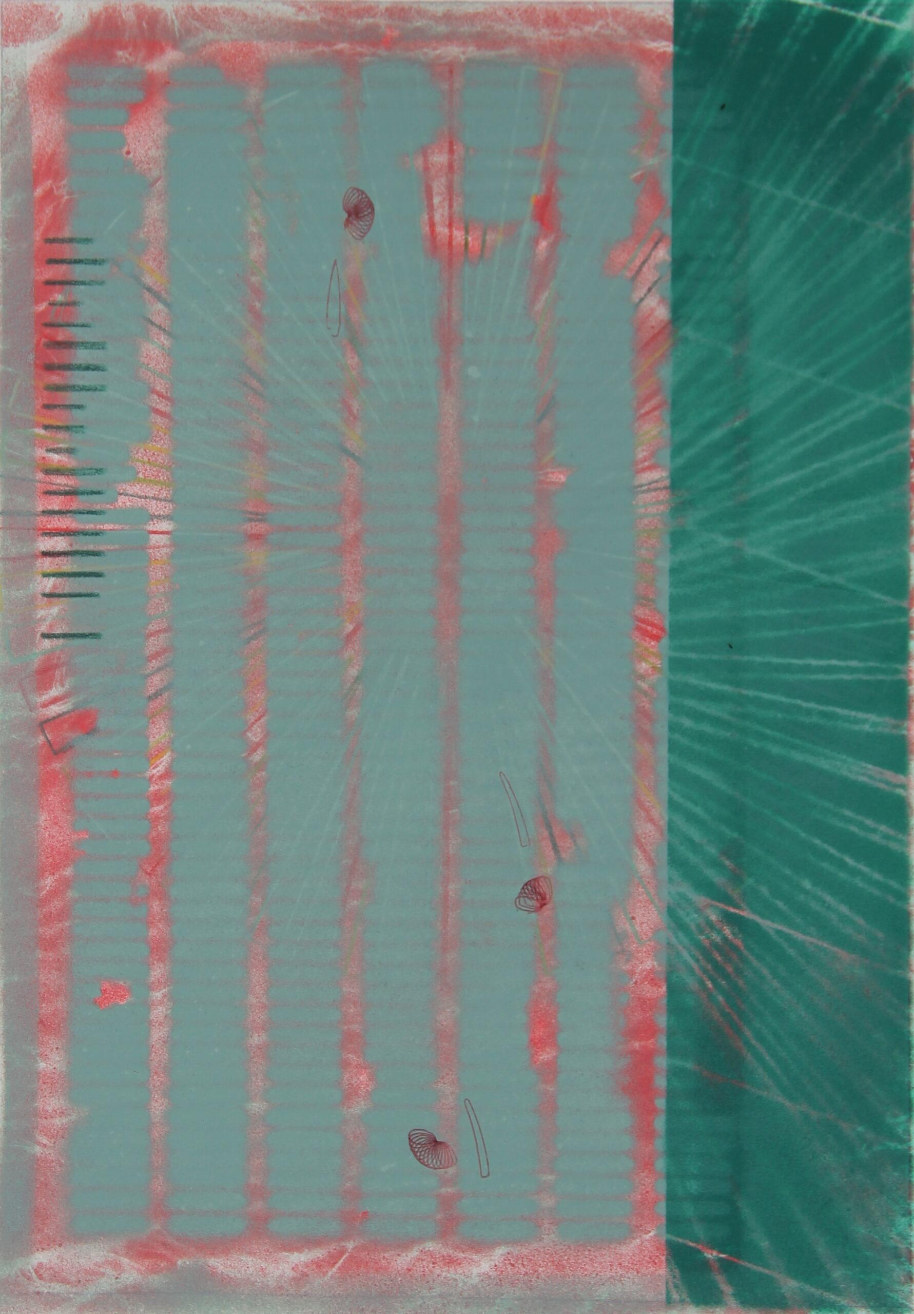 P 2020-R, 42x30 cm, spuitbus op papier